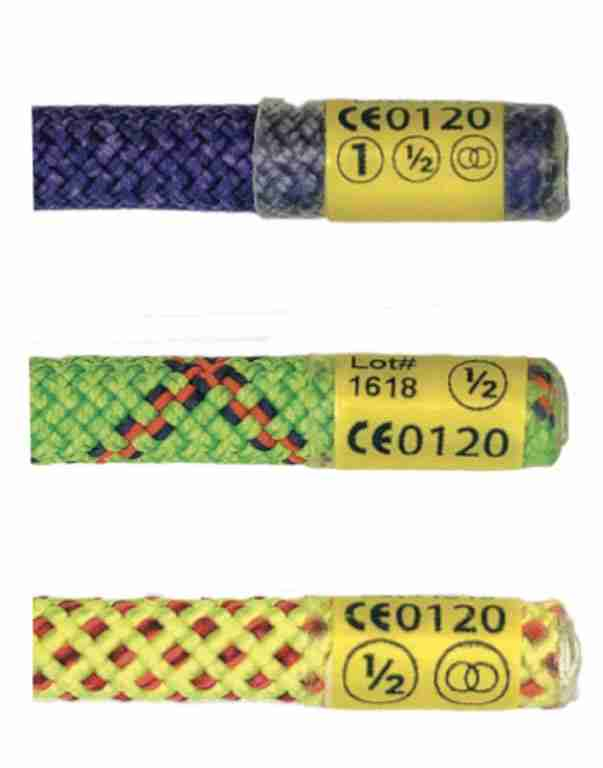 Climbing Rope Labels Safety Rating Symbols
