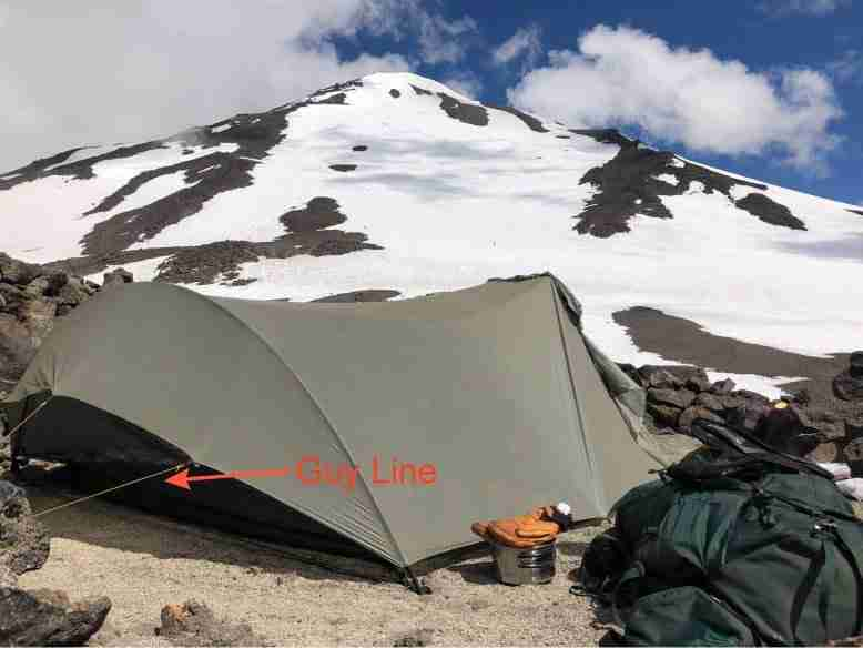 Guy Line On A Backpacking Tent