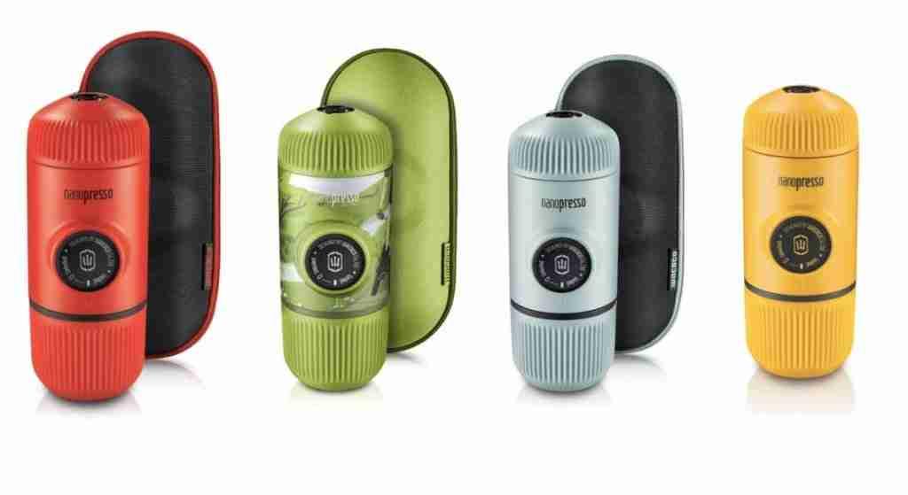 nanopresso espresso maker for backpacking color options