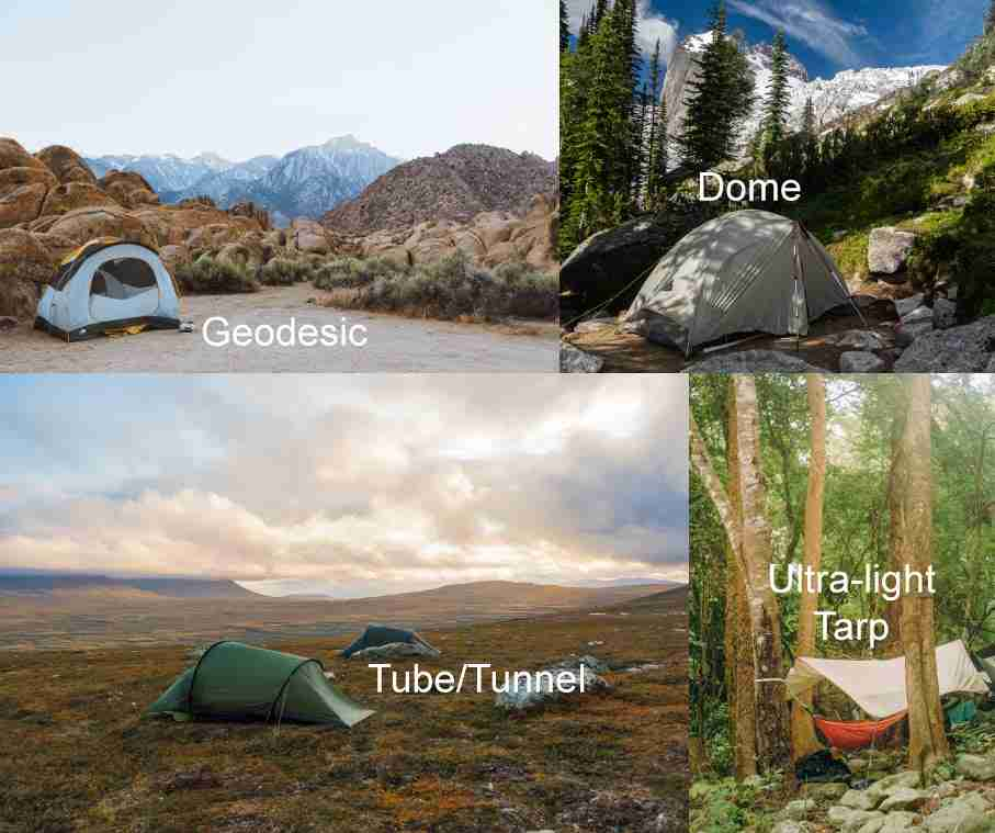 Types Of Backpacking Tents