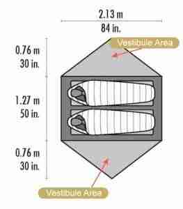 vestibule area indicated when choosing a tent