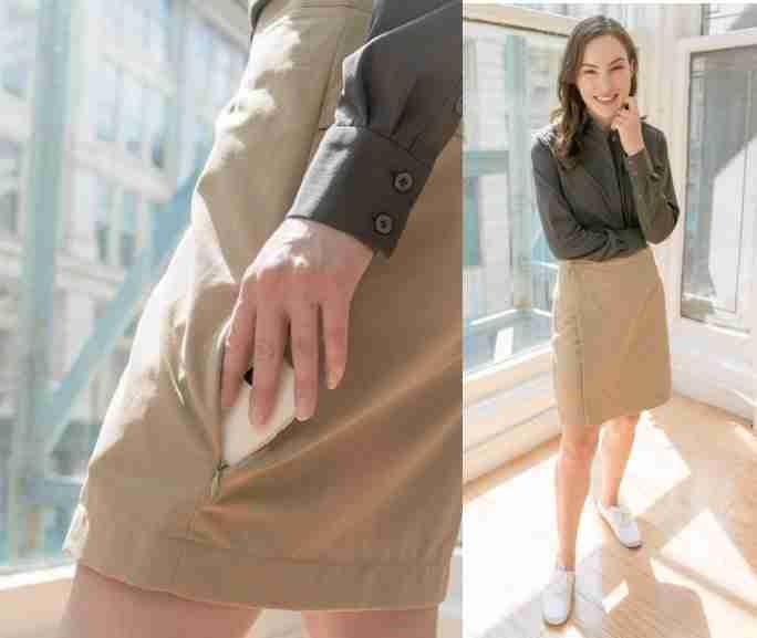 Clothing Arts Anti Theft Travel Skirt Apparel