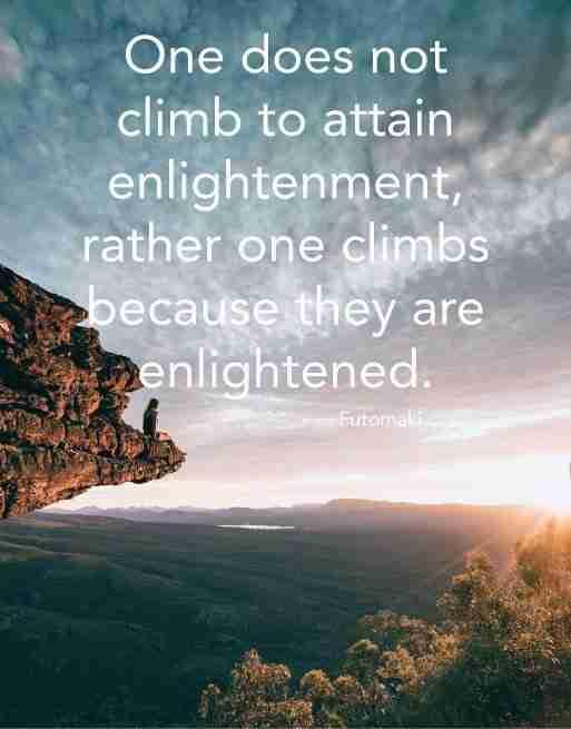 Zen Mountain Climbing Quote