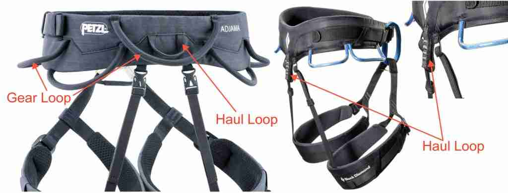 How To Choose A Climbing Harness: Haul Loops & Gear Loops.