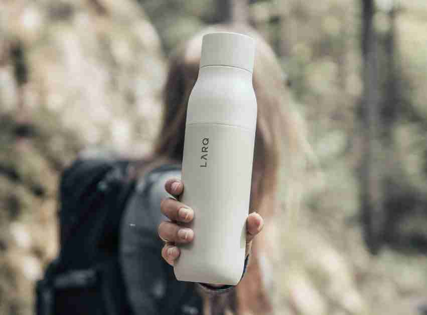 LARQ portable uv light water purifier bottle