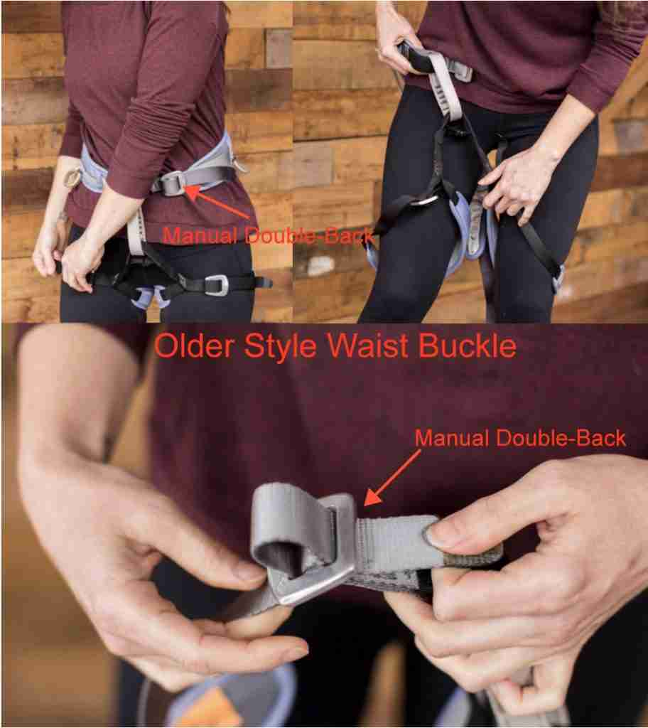 Manual Double Back Climbing Harness With Diagram
