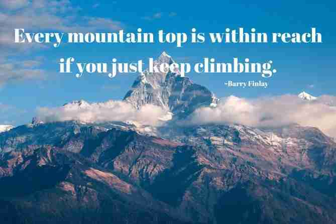 Motivational Mountain Quote
