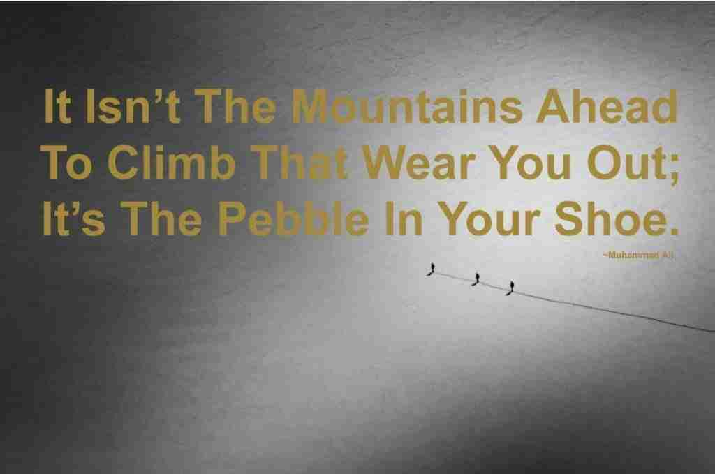 Motivational Muhammad Ali Quote For Mountaineers