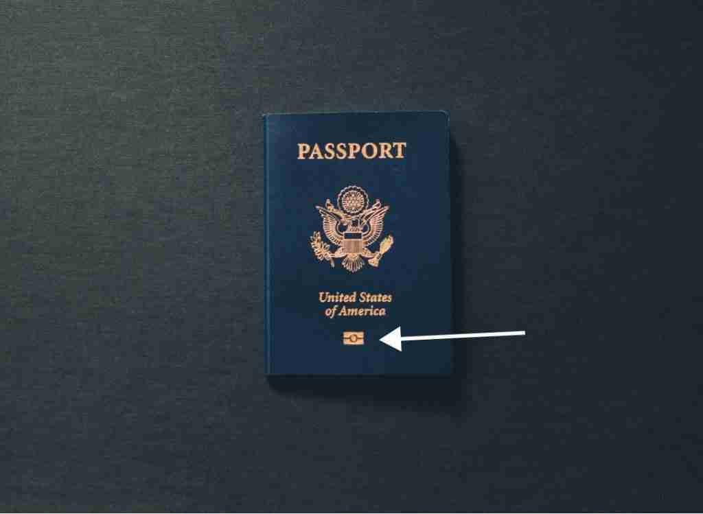 Passport With RFID Chip Symbol