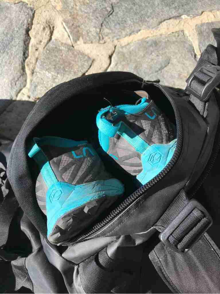 Shoe Compartment On North Face Duffel Backpack