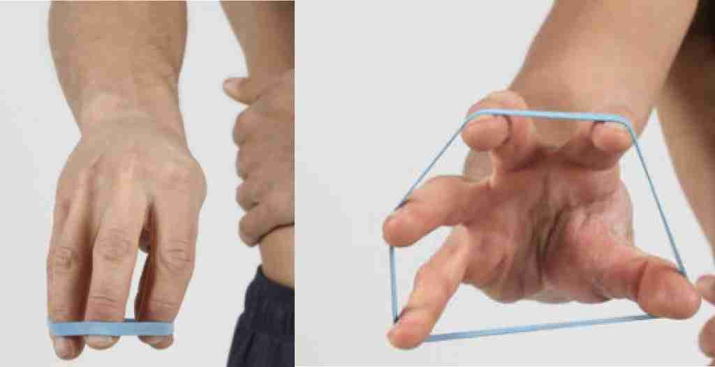 Finger Pulley Exercises With Rubber Band For Rock Climbing