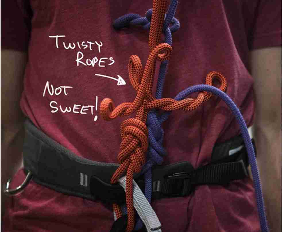 Twisty Climbing Ropes And How To Un-Twist Them