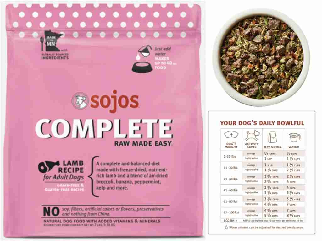 Sojos Dehydrated Dog Food For Backpacking