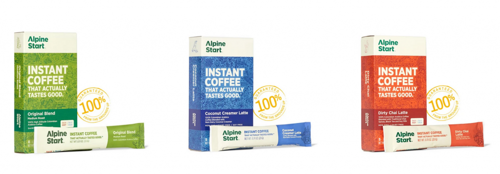 Alpine Start Instant Coffee For Camping And Backpacking - Crux Range