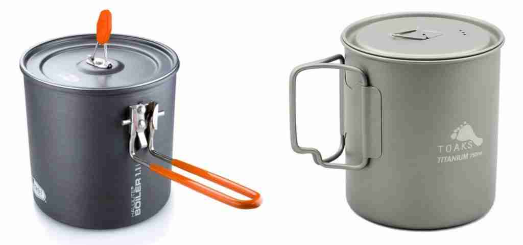 Pots For Making Cowboy Coffee While Camping And Backpacking