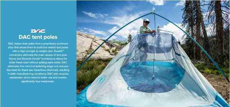 DAC Pressfit Tent Poles for Big Agnes C Bar Backpacking Tent