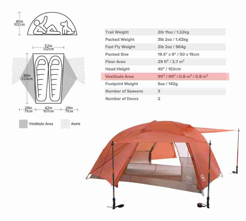 Vestibule Area of a Backpacking Tent