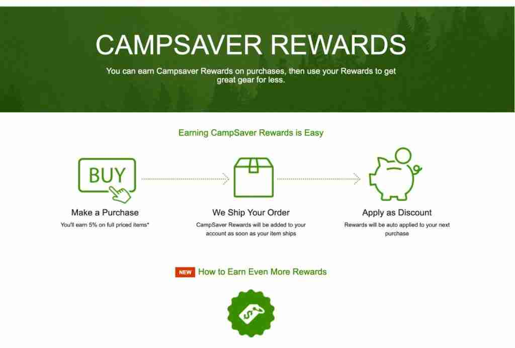 Campsaver Rewards Program For Discount Outdoor Gear