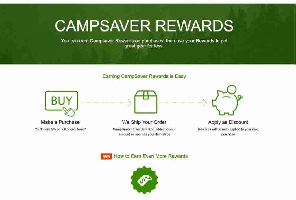 Campsaver Rewards Program For Discount Outdoor Gear