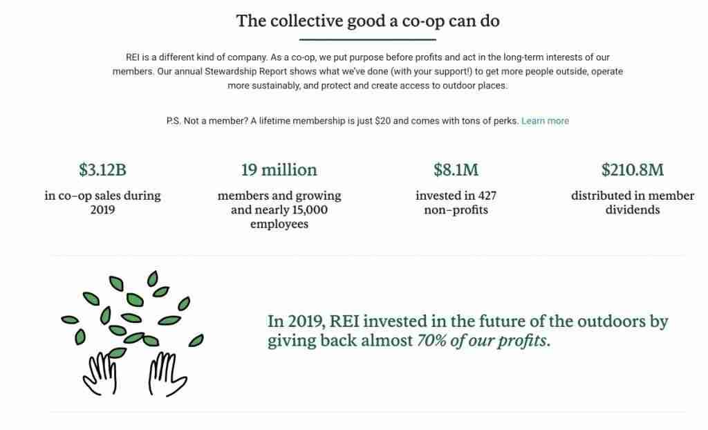 REI Coop Stewardship Page