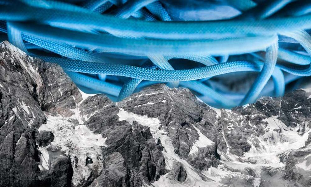 rope labels cover image with climbing rope in sky